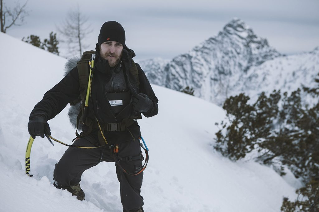 Ivo using Sound Devices 633 out in the elements