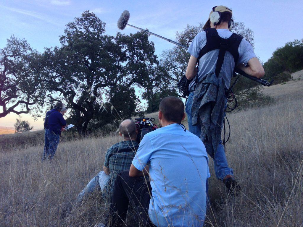 David Silberberg working behind a scene of Long Strange Trip